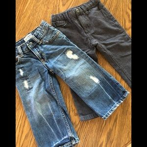 Calvin Klein and babyGap pants.